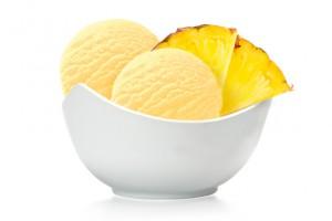 Мороженое щербет с кусочками манго